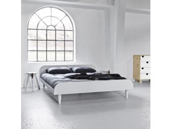 Twist seng - hvidt stel