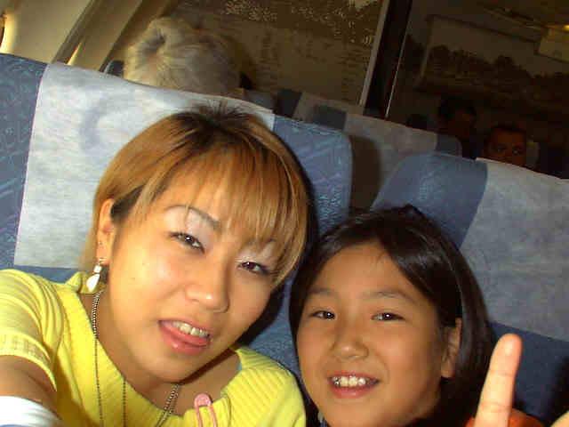 Miku og Chie på vej til Danmark