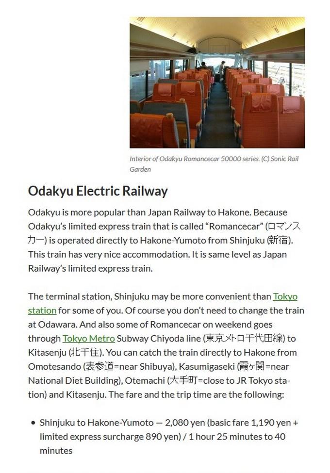 Tokyo-Hakone, info - 3