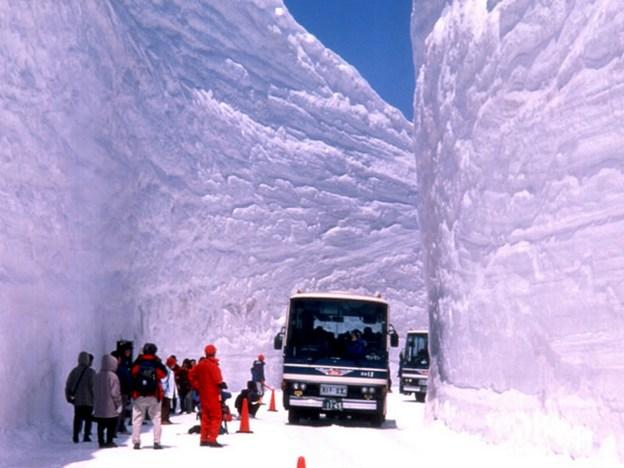 snow winter in Toyama